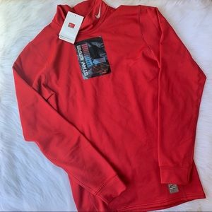 NEW Nike Dri Fit Red Long Sleeve Stay Warm M